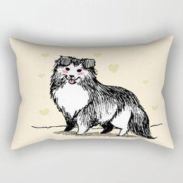 A Very Good Boy (Cream) Rectangular Pillow