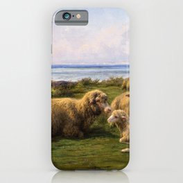 Rosa Bonheur - Sheep By The Sea - Digital Remastered Edition iPhone Case