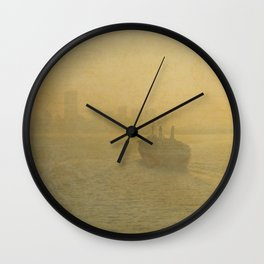 Postcards From New York Wall Clock