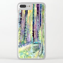 Redwoods Road Trip Clear iPhone Case