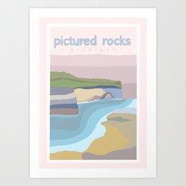 Pictured Rocks Michigan  Art Print