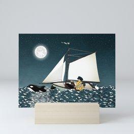 Sailing Buddies Mini Art Print