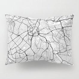 Sao Paulo Map White Pillow Sham
