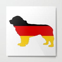 German Flag - Newfoundland Dog Metal Print