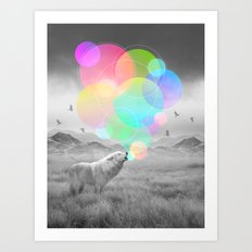 The Echoes of Silence Art Print