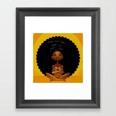 Spiritual AfroGirl Framed Art Print