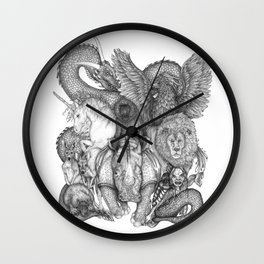 The Impossible Menagerie Wall Clock