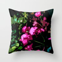 free shipping Throw Pillows featuring Rose garden by Ordiraptus