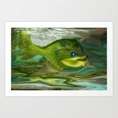 Smilen Sam The Fish...For Kids Art Print