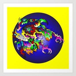 Unkowning Bluecircle Art Print