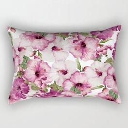Hibiscus Pattern Rectangular Pillow