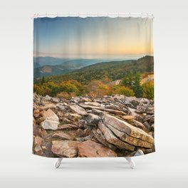 Spruce Knob Mountain Sunset Shower Curtain