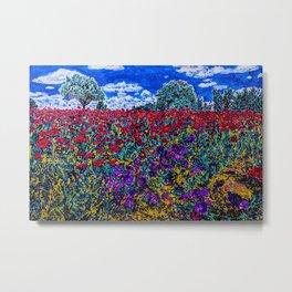 Red Poppies - Texas Wildflowers Metal Print