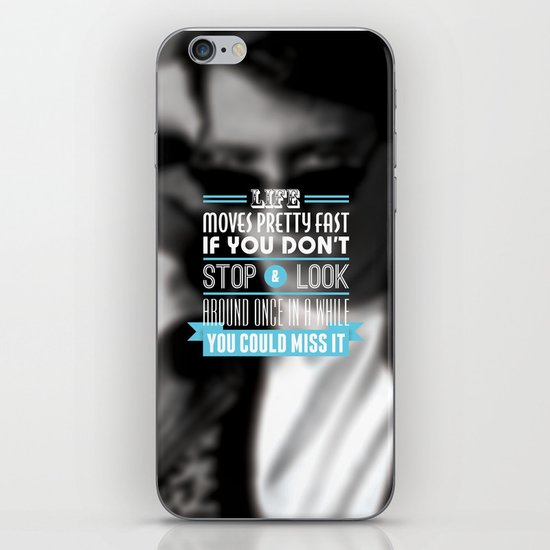 """FERRIS BUELLER"" Typography Poster iPhone & iPod Skin"