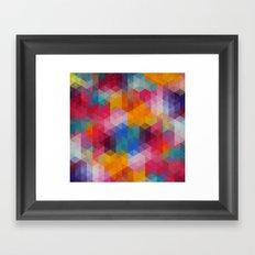 Geometric Color Dynamics Framed Art Print