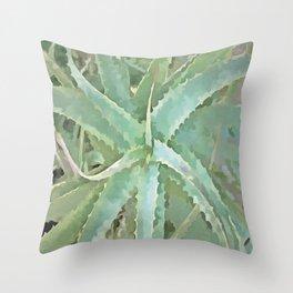 Amazing Aloe Vera Throw Pillow