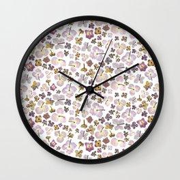 Scattered Hydrangea Wall Clock