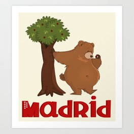 MADRID: Bear and Madrono (v.2) Art Print