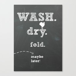 Laundry room print Canvas Print