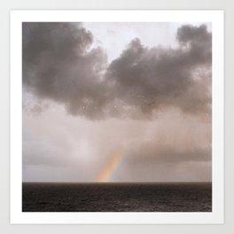 rainbow ocean Art Print