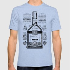 Lord of the Rings Rivendell Vineyards Vintage Ad MEDIUM Mens Fitted Tee Tri-Blue