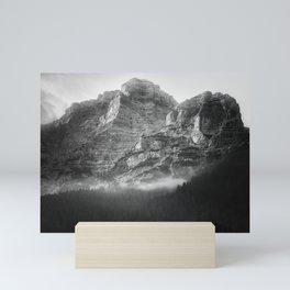 Dark Mountains Mini Art Print