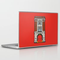 ghostbusters Laptop & iPad Skins featuring Ghostbusters Fire Station by evannave