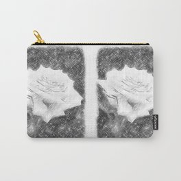 Pink Roses in Anzures 3 Charcoal Carry-All Pouch