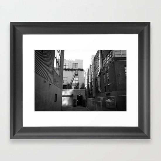 SF Back Alley Framed Art Print