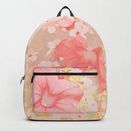 Carefree Pink Petunias Backpack