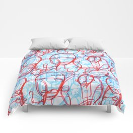 Red Vs Blue Comforters