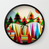 camouflage Wall Clocks featuring Camouflage by milanova