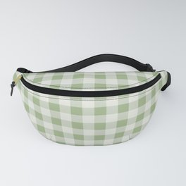 Gingham Pattern - Natural Green Fanny Pack