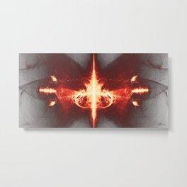 Digitales Feuer 1 Metal Print