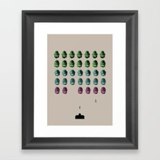 Faceinvaders Framed Art Print