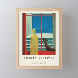 Poster-Vilhelm Petersen-Figur ved vinduet. Framed Mini Art Print