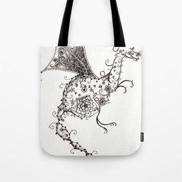 Garden Dragon Tote Bag