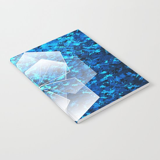 Geometric Ice Flower Notebook