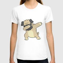 Dabbing Dog Cool Dabbing Pug T-shirt