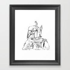 The Hunter B&W Framed Art Print