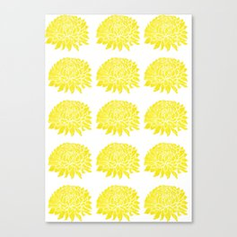 Yellow Chrysanthemums  Canvas Print
