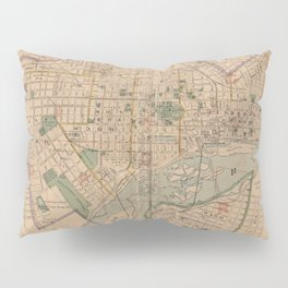 Vintage Map of Richmond Virginia (1876) Pillow Sham