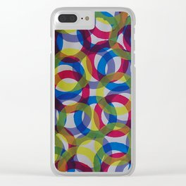 Circles Clear iPhone Case