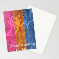The world is umlimited. I am free... Stationery Cards