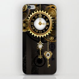 Antique Clock with Keys ( Steampunk ) iPhone Skin