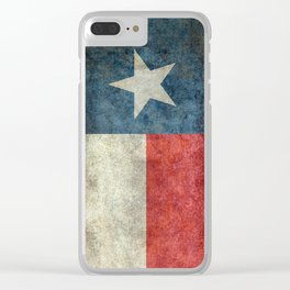 Texas state flag, Vintage banner version Clear iPhone Case