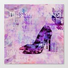 High heel female shoe watercolor art Canvas Print