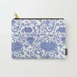 Chinoiserie Vines in Delft Blue + White Carry-All Pouch