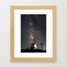 Milky Way over Mount Laguna Observatory 2 Framed Art Print