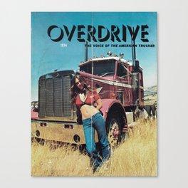 American Trucker Canvas Print